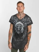 trueprodigy T-shirt Skull Indian grigio