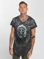 trueprodigy T-Shirt Skull Indian gris