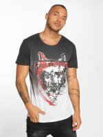 trueprodigy T-Shirty Angry Wolf czarny