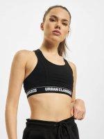 Urban Classics Športová podprsenka Ladies Logo čern