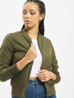 Urban Classics Куртка-бомбардир Ladies Light зеленый