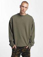 Urban Classics Пуловер Oversized Open Edge зеленый