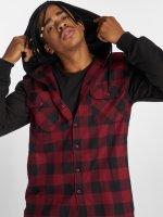 Urban Classics Рубашка Hooded Checked Flanell красный