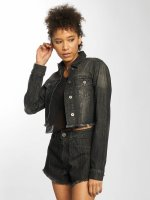 Urban Classics джинсовая куртка Ladies Short Denim черный