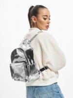 Urban Classics Backpack Midi Metallic silver colored