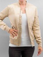 Urban Classics Bomber jacket Ladies Satin Bomber gold colored