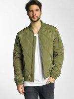 Urban Classics Bomber jacket Big Diamond Quilt olive