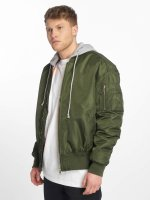 Urban Classics Bomber jacket Hooded Oversized olive