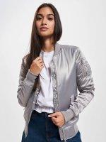 Urban Classics Bomber jacket Satin Bomber silver colored