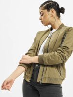 Urban Classics Bomberová bunda Ladies Peached olivová