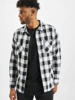 Urban Classics Camisa Checked Flanell blanco