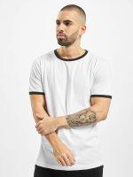 Urban Classics Camiseta Ringer blanco