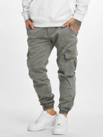 Urban Classics Chino bukser Washed Cargo Twill Jogging grå