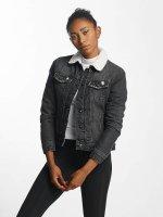 Urban Classics Denim Jacket Sherpa Denim black