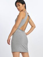 Urban Classics Dress Back Cut Out gray