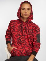 Urban Classics Hoodie Sweat Camo Bomber red