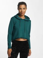 Urban Classics Hoodie Ladies Cropped Terry turquoise