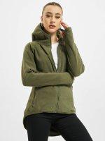 Urban Classics Hoodies con zip Polar Fleece oliva