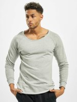 Urban Classics Jersey Long Open Edge Terry gris