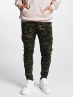 Urban Classics joggingbroek Interlock Camo camouflage