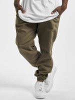 Urban Classics joggingbroek Washed Canvas olijfgroen