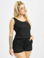 Urban Classics Jumpsuit Ladies Melange Hot schwarz