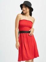 Urban Classics jurk Smoke rood