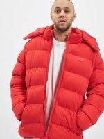 Urban Classics Kurtki pikowane Hooded Boxy Puffer czerwony