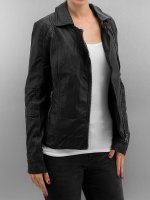 Urban Classics Lightweight Jacket Ladies Leather Imitation Biker black
