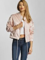 Urban Classics Lightweight Jacket Ladies Satin Kimono rose