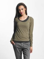 Urban Classics Longsleeves Two Colored zielony