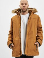 Urban Classics Mantel Heavy Cotton Imitation Fur braun
