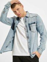 Urban Classics overhemd Denim Pocket blauw