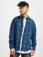 Urban Classics overhemd Printed blauw