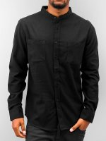 Urban Classics overhemd Low Collar Flanell zwart