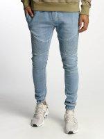 Urban Classics Pantalón deportivo Biker Denim Jogger azul