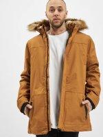 Urban Classics Płaszcze Heavy Cotton Imitation Fur brazowy