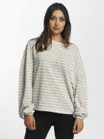 Urban Classics Pullover Oversize Stripe grau