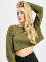 Urban Classics Pullover Terry Cropped olive