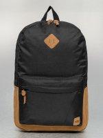 Urban Classics rugzak Leather Imitation zwart