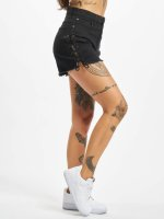 Urban Classics Shorts Lace Up Highwaist svart