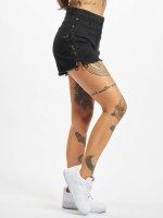 Urban Classics shorts Lace Up Highwaist zwart