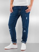 Urban Classics Skinny Jeans Ripped Denim niebieski