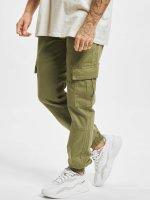 Urban Classics Spodnie Chino/Cargo Washed Cargo Twill Jogging oliwkowy