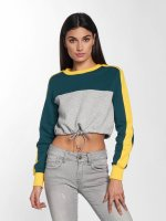 Urban Classics Sweat & Pull 3-Tone Stripe Cropped gris