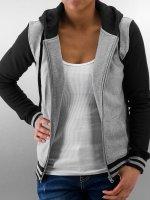 Urban Classics Sweat capuche zippé Ladies 2-Tone College gris