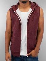 Urban Classics Sweatvest Melange Hooded rood