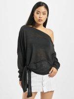 Urban Classics Swetry Asymmetric czarny