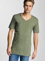 Urban Classics T-paidat Basic V-Neck oliivi