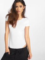 Urban Classics T-Shirt Ladies Lace Up blanc